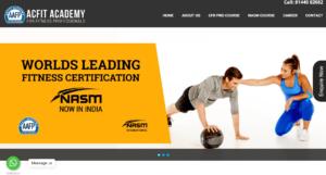 Acfit Academy Fitness Course