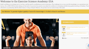 Exercise Science Academy Fitness Course
