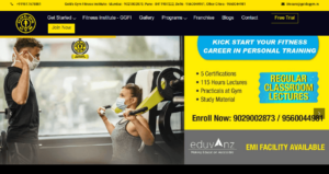 Golds Gym Fitness Trainer Course
